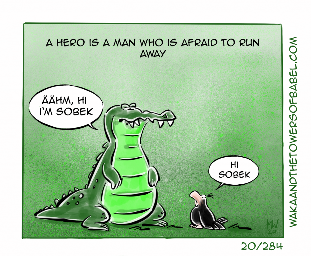 Afraid to run away